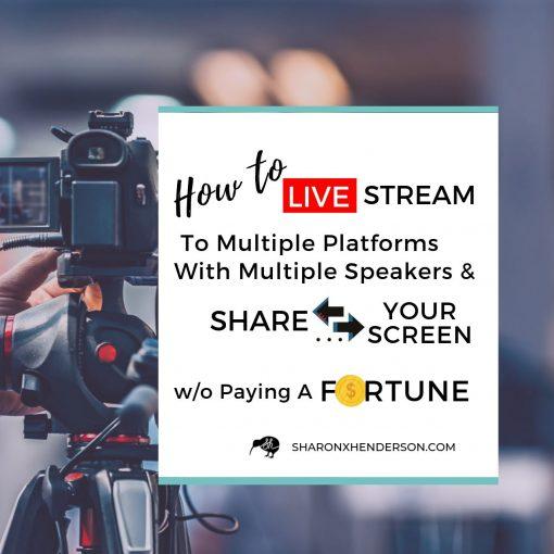 How to Live-Stream Blog Facebook Live