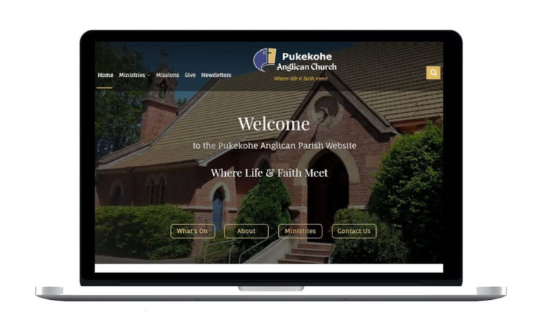Pukekohe-Anglican-Church-Featured-Image mockup of site for portfolio