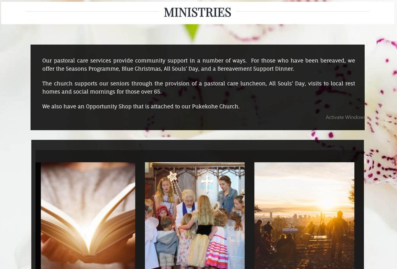Ministries first section