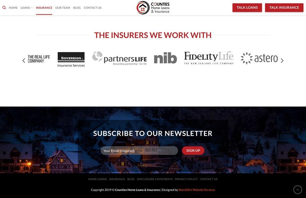 Counties Accredited Insurers Newsletter Signup