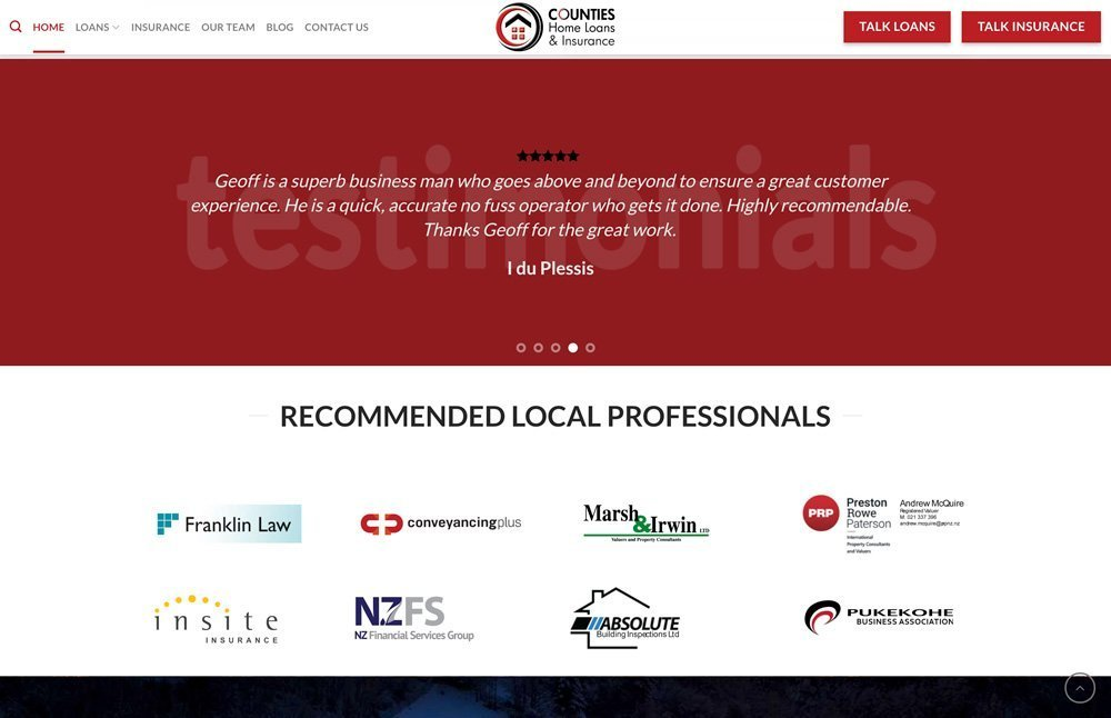 Counties Home Page Page 1 Testimonials
